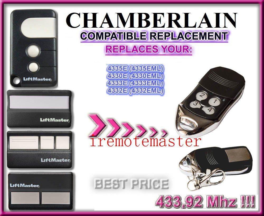 2pcs Chamberlain Liftmaster 4335e 4330e 4332e Compatible Remote Liftmaster Garage Opener Liftmaster Building Automation Access Control