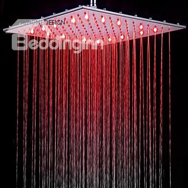 Hot Selling 10 Inches Pure Copper Led Shower Head Beddingtons Bed