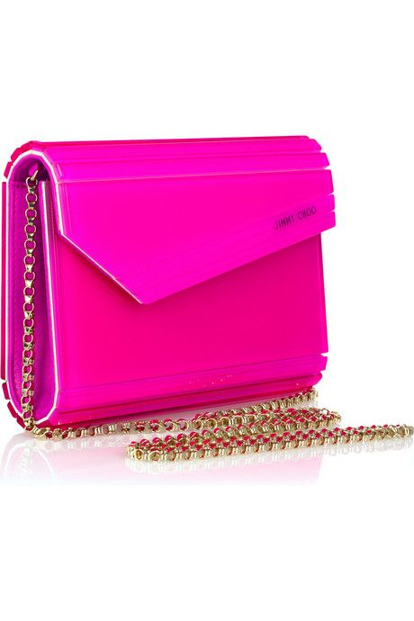963953d865d Jimmy Choo Candy acrylic shoulder clutch | Neon pink | Jimmy Choo ...