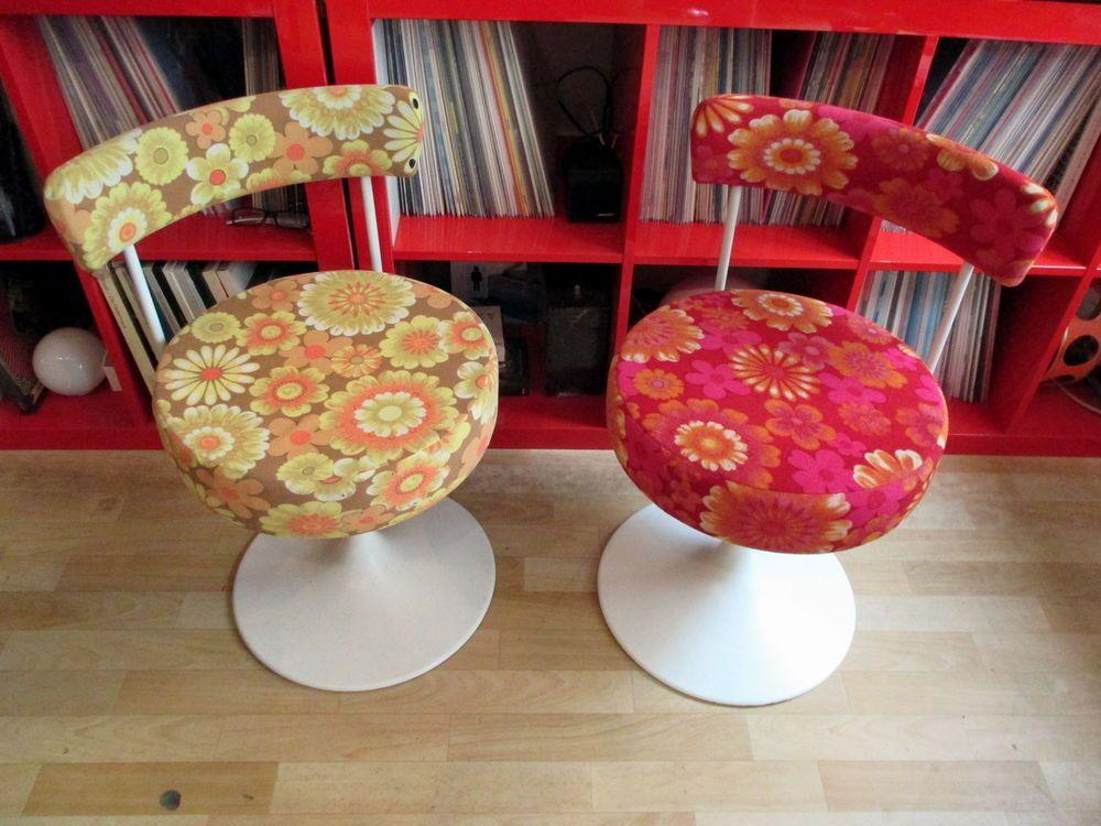 2 x Stuhl Drehstuhl 1 x Tisch Alter ? Tulip Tulpenfuß 70er