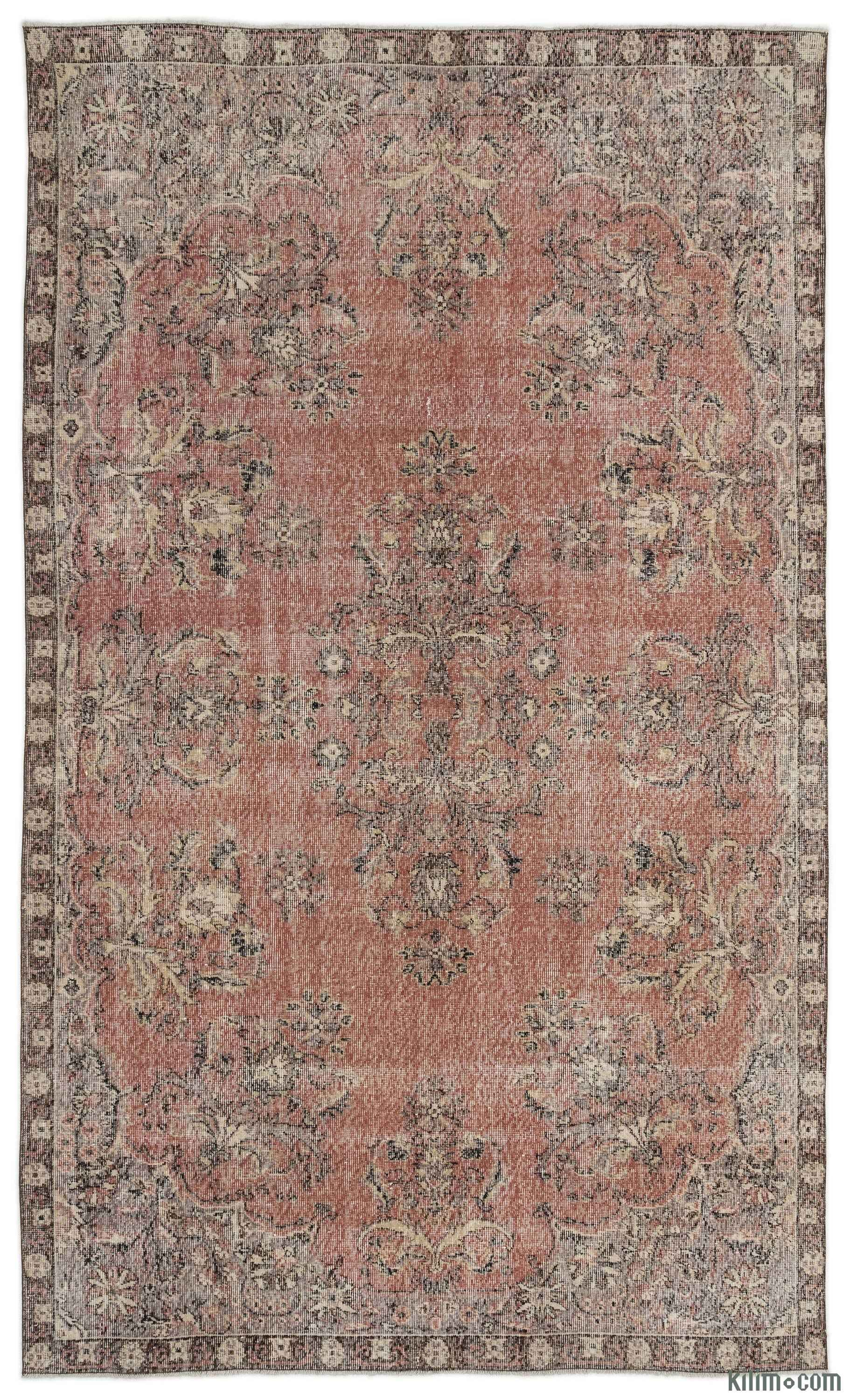 Turkish Vintage Area Rug 6 5 X 10 9 77 In X 129 In