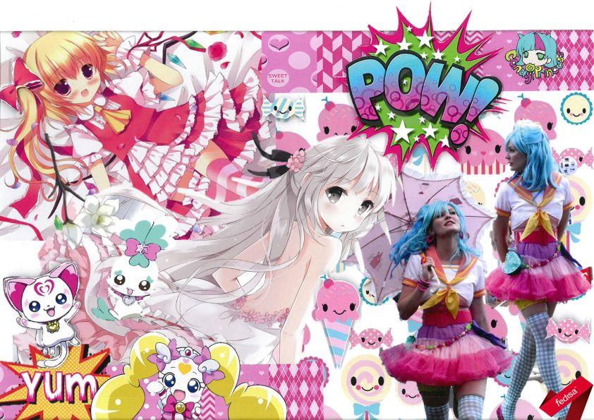 Fashion Mood Board Of A Subculture Otaku Anime 2nd Year Anime