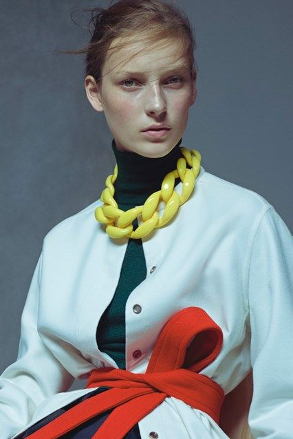 Diana Broussard necklace styled by Lucinda Chambers