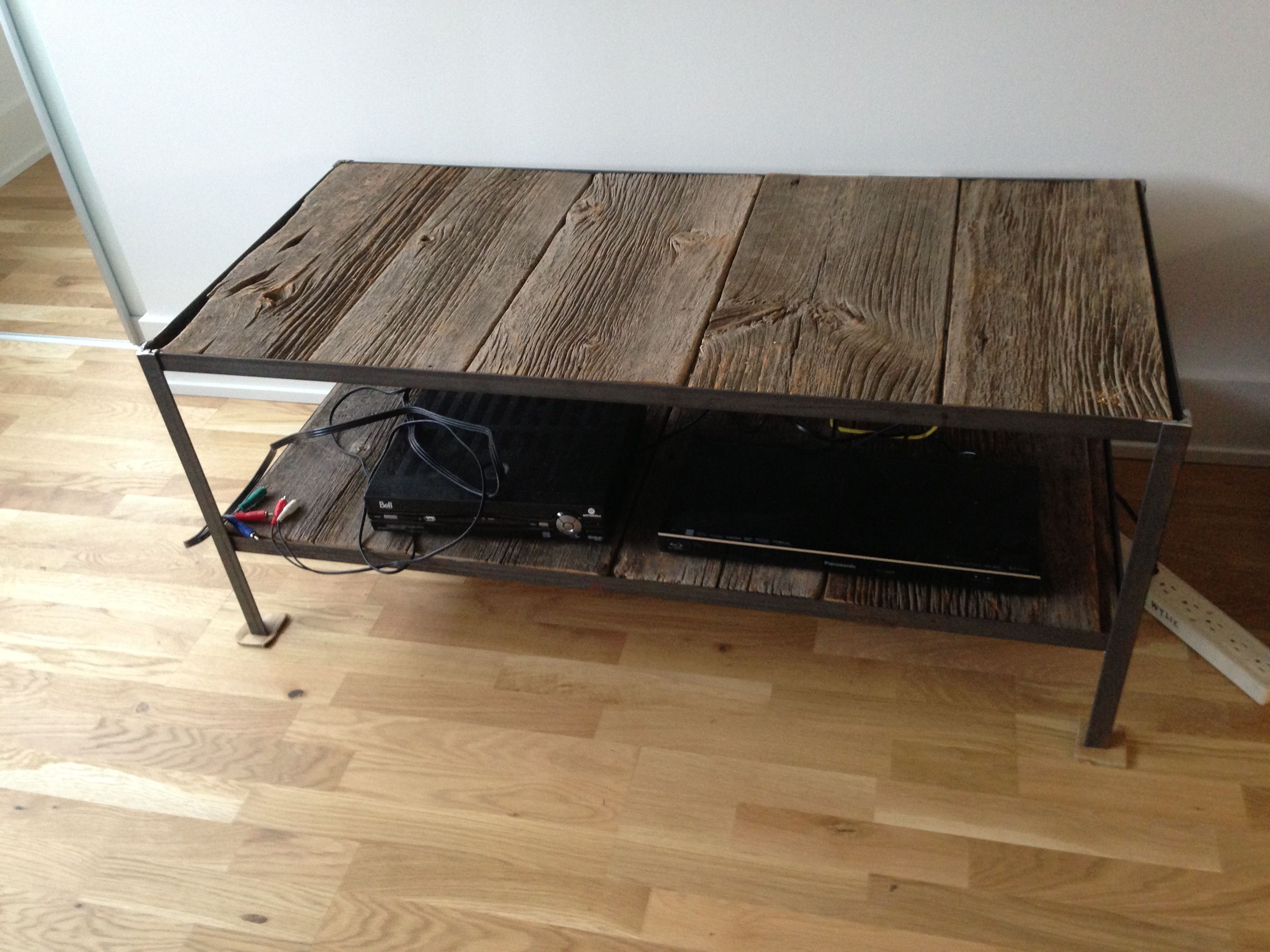 Welded angle iron coffee table Home Pinterest