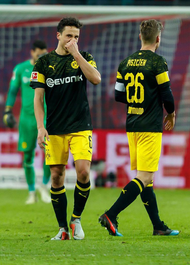 Leipzig Germany January 19 Thomas Delaney Of Borussia Dortmund Looks On During The Bundesliga Match Between Rb Leipzig Borussia Dortmund Dortmund Red Bull