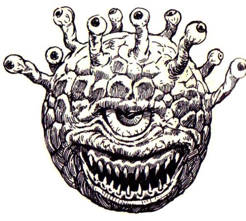 Beholder by Jeff Easley, from the Mentzer Dungeon Masters