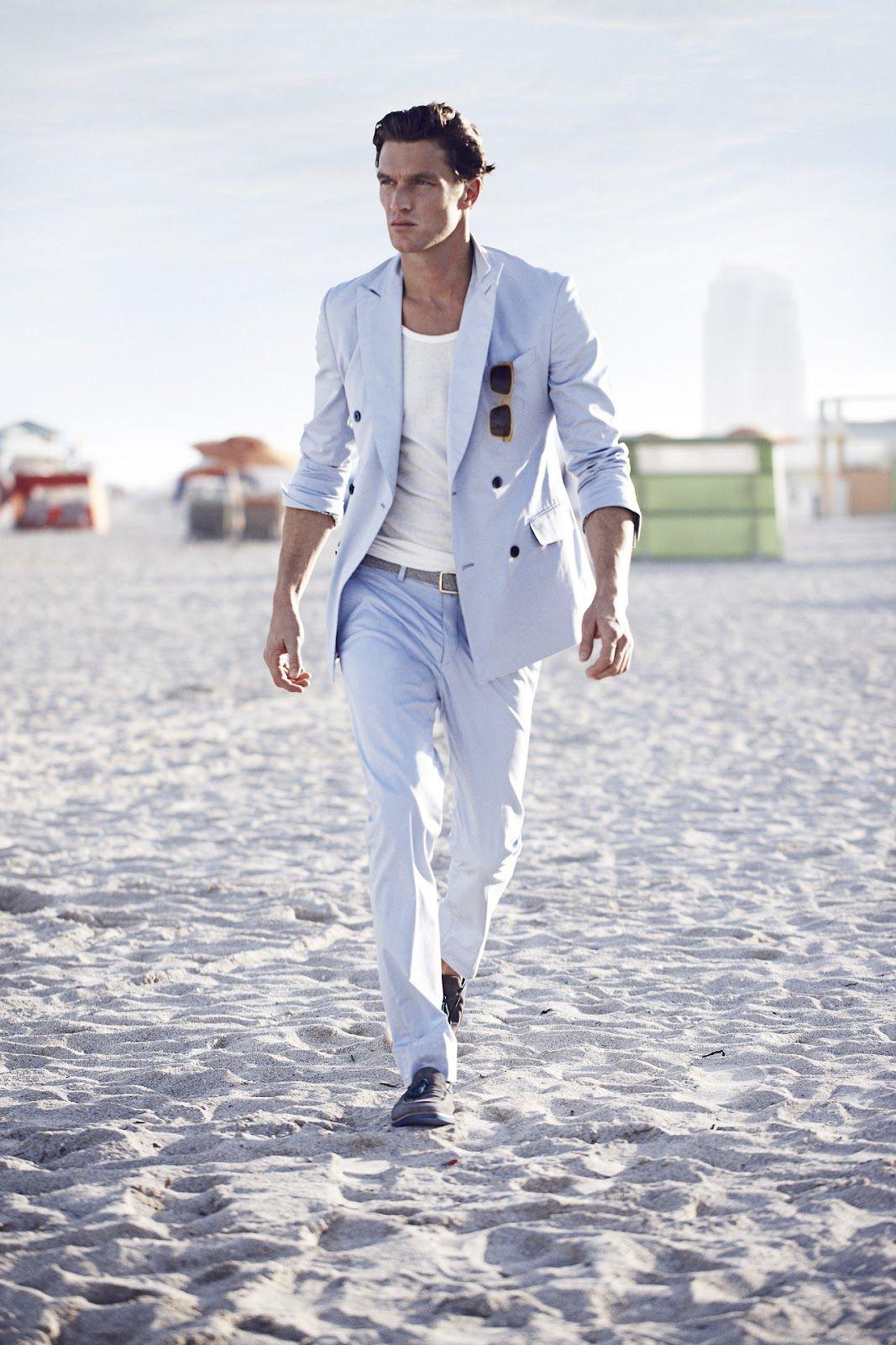 Miami Vice Style Hellblauer Zweireiher Mit Wei Em T Shirt Fashion Pinterest Miami Men 39 S