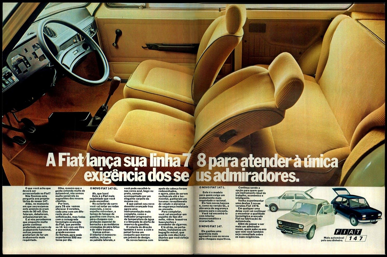 1978 Fiat 147 Gl Brasil With Images Fiat Classic Cars Cars