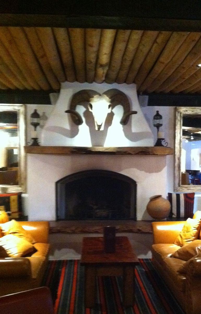 Southwest decor living room  Inn at Loretto Lounge Santa Fe NM  Santa Fe  Pinterest  Santa