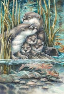 2015/'So Happy We Have Each Otter' - Original Painting