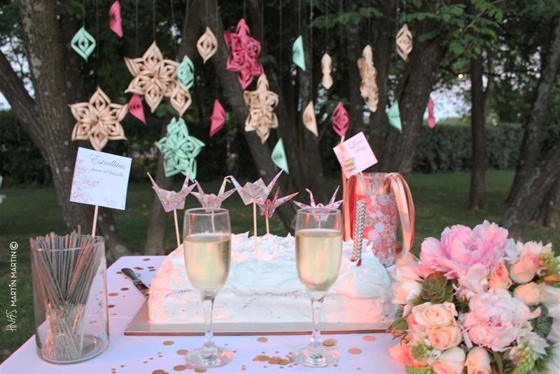 Decoración de torta de bodas