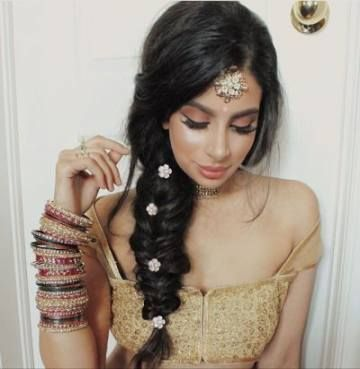 54 Ideas For Hairstyles Indian Party Indian Bridal Hairstyles Indian Wedding Hairstyles Bridal Hairdo