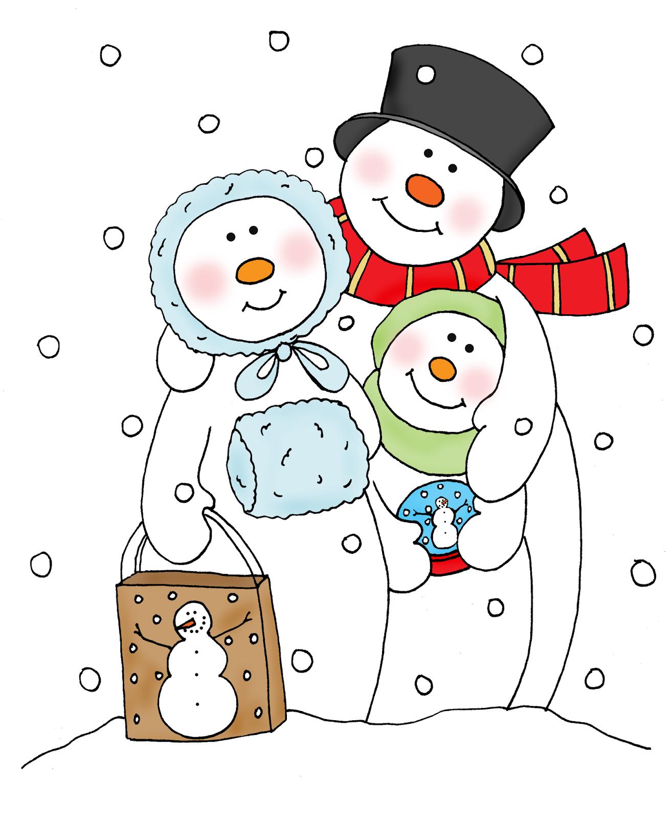 □ Dearie Dolls... free Dearie Dolls color digi stamp of snowman ...