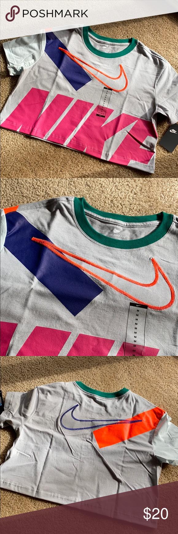 Nike Color Block Short Crop Top Crop Top And Shorts Crop Tops Short Tops [ 1740 x 580 Pixel ]