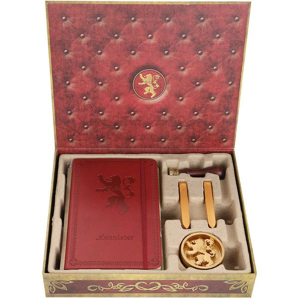Game Of Thrones House Lannister Stationary Set Hot Topic 15
