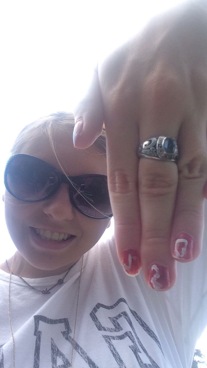 This is  my nails  one hand  I had help with  the other  one I did myself