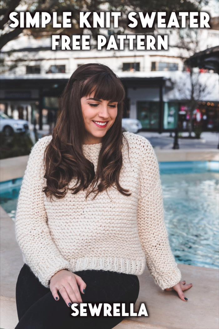 Photo of Simple Knit Sweater – free pattern