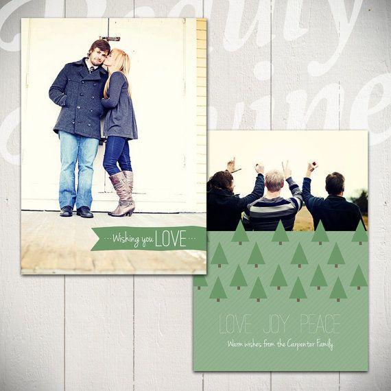 Christmas Card Template O Christmas Tree B  Holiday Card X