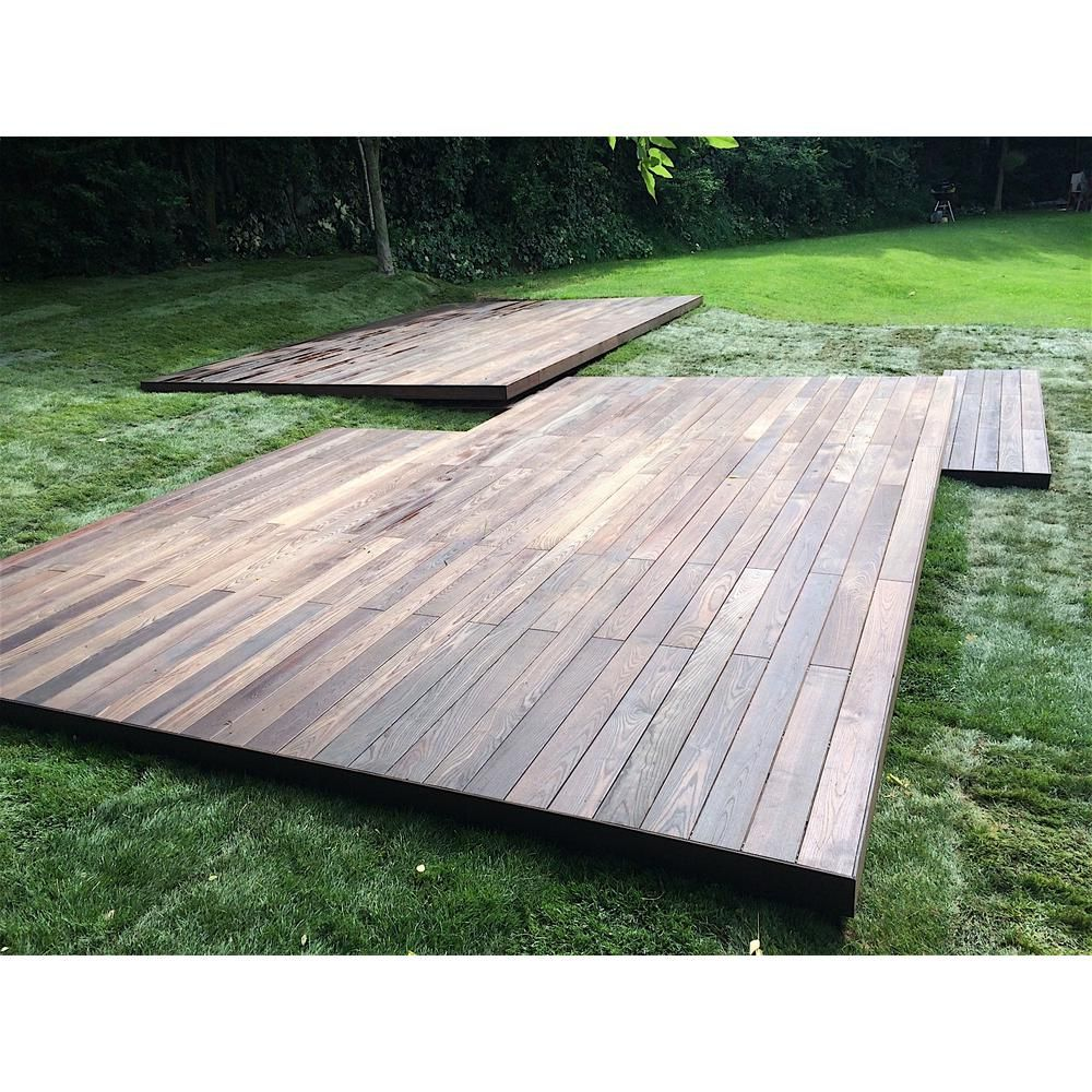 Welldone 5 4 In X 6 In X 12 Ft Thermo Treated Premium Oak Anti Slip Textured Heavy Decking Board 8 Pack 11176 The Home Depot Backyard Patio Hot Tub Outdoor Deck