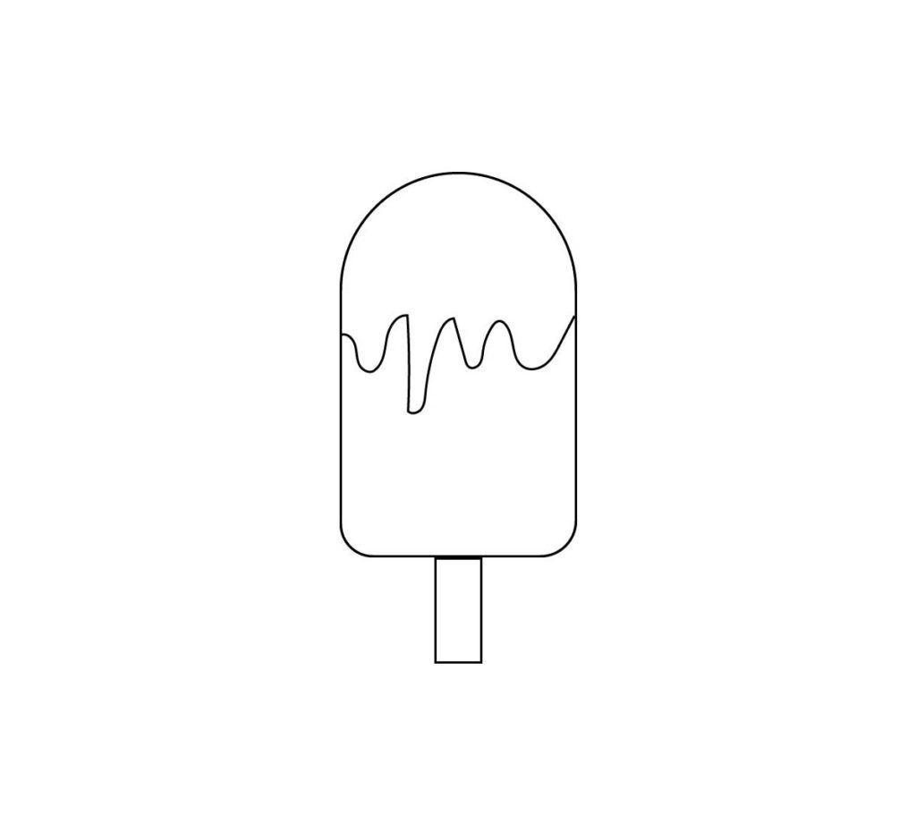 Ice Cream Coloring Pages Cone Popsicle Free Coloring Pages Ice