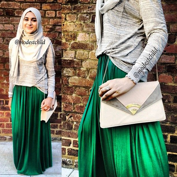 Quick Ootd Emerald Green Skirt By Unique Hijabs Modestchild Instagram Web Interface 5th
