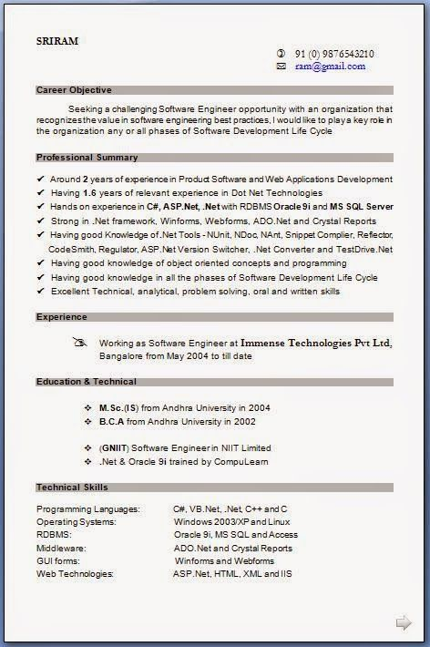 How To Write Cv In English Sample Template Example Of Excellentcv
