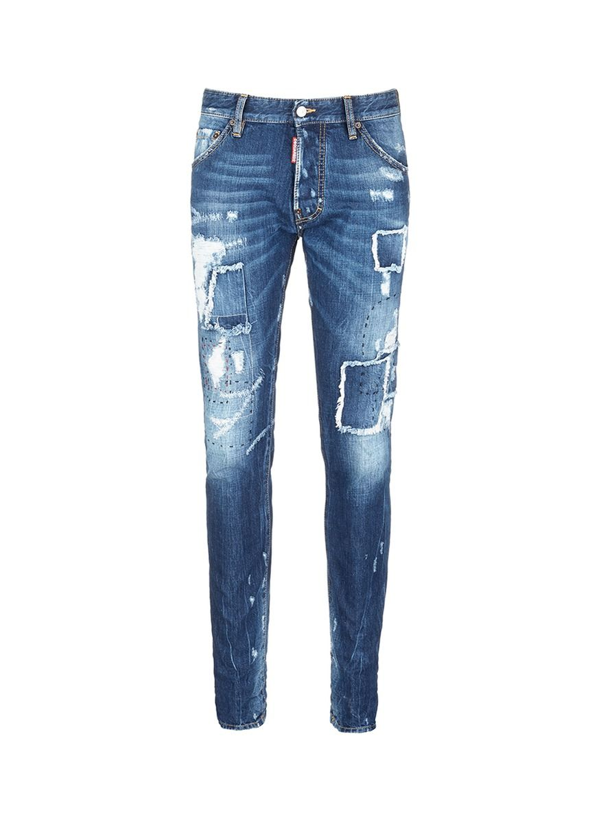 Dsquared2 'Cool Guy' Slim Fit Distressed Jeans (Blue | Denim