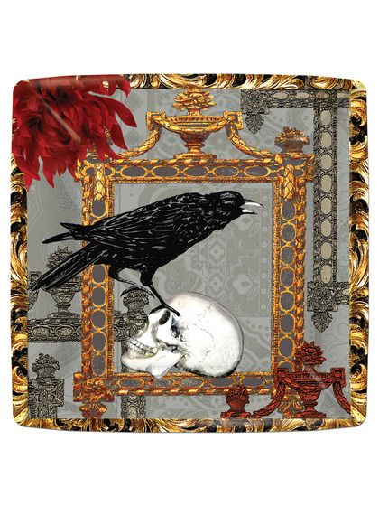 The Raven Dessert Plates (Set of 16)