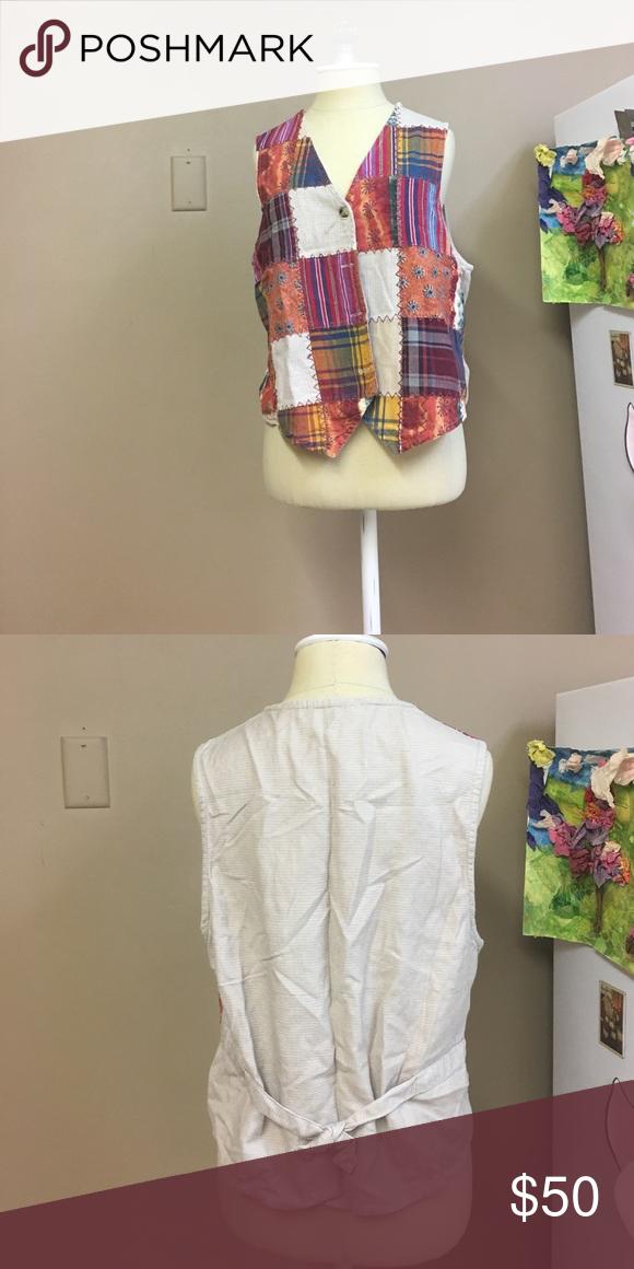 ❤🖤SALE🖤❤Vintage Patchwork Vest Has a tie in the back. Vintage. Make an offer. #15 Casey & Max Jackets & Coats Vests