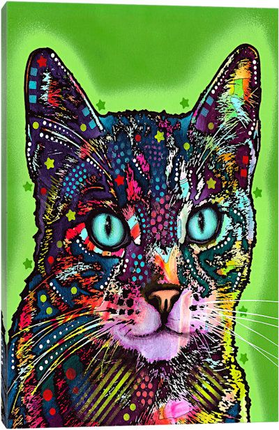 Watchful Cat by Dean Russo Canvas Art