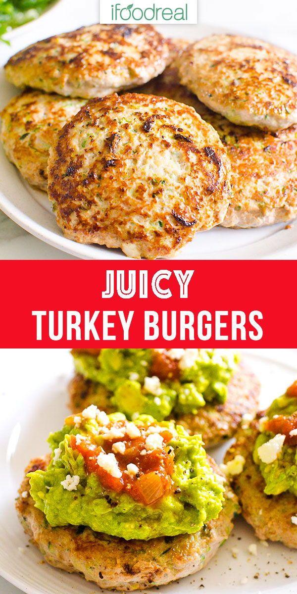Turkey Burgers - Healthy Dinner Recipe