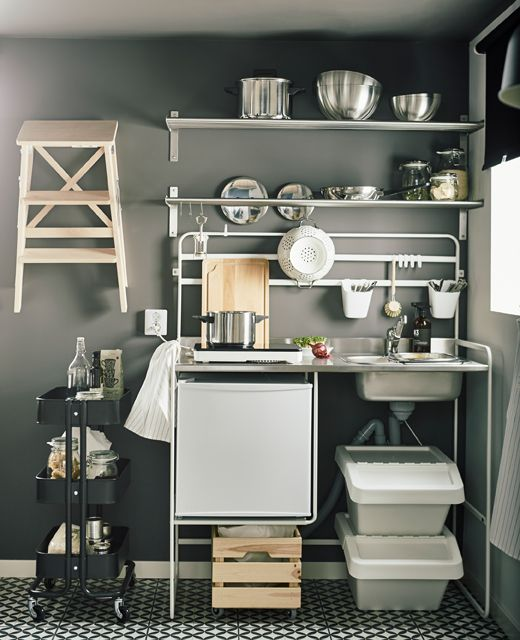 Need Affordable And Space Saving Furniture For Your Small Kitchen? IKEA Has  The Solution For You, Such As SUNNERSTA Small Kitchen. The Best Bit?