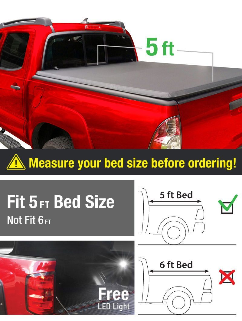 Details About For 2005 2015 Toyota Tacoma 5ft Bed Premium Tri Fold