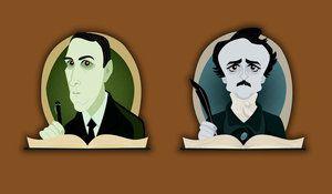 HP Lovecraft Edgar Allan Poe by belledee
