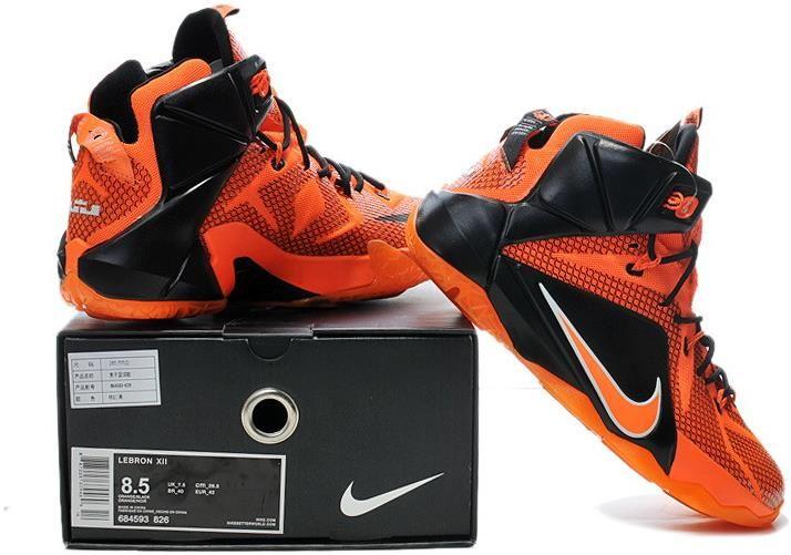 LeBron 12 PS Elite Orange Black Shoes1