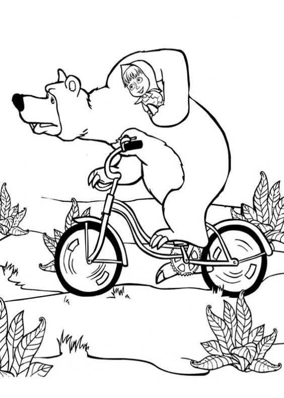 Masha e orso da colorare 90 mascia colori disegni da for Immagini masha e orso da colorare