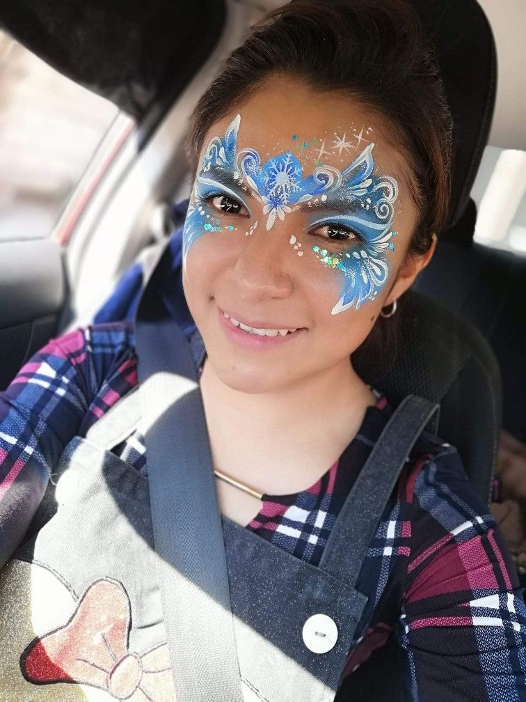 Pin By Gina Watkins On Face Painting Inspiration Frozen Face Paint Face Painting Frozen Face