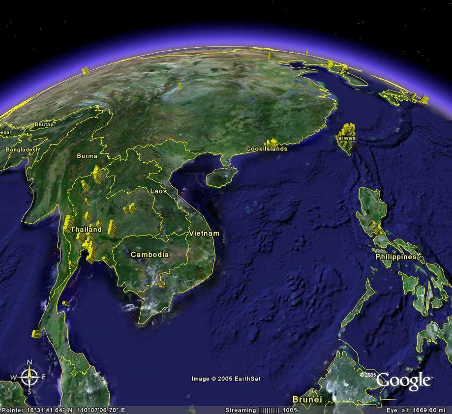 google earth southeast asia   Google Search | Vietnam war