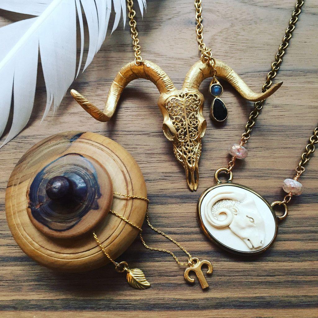 Aries the ram david aubrey aries symbol necklace heather benjamin david aubrey aries symbol necklace heather benjamin ram skull necklace extasia hand buycottarizona Gallery