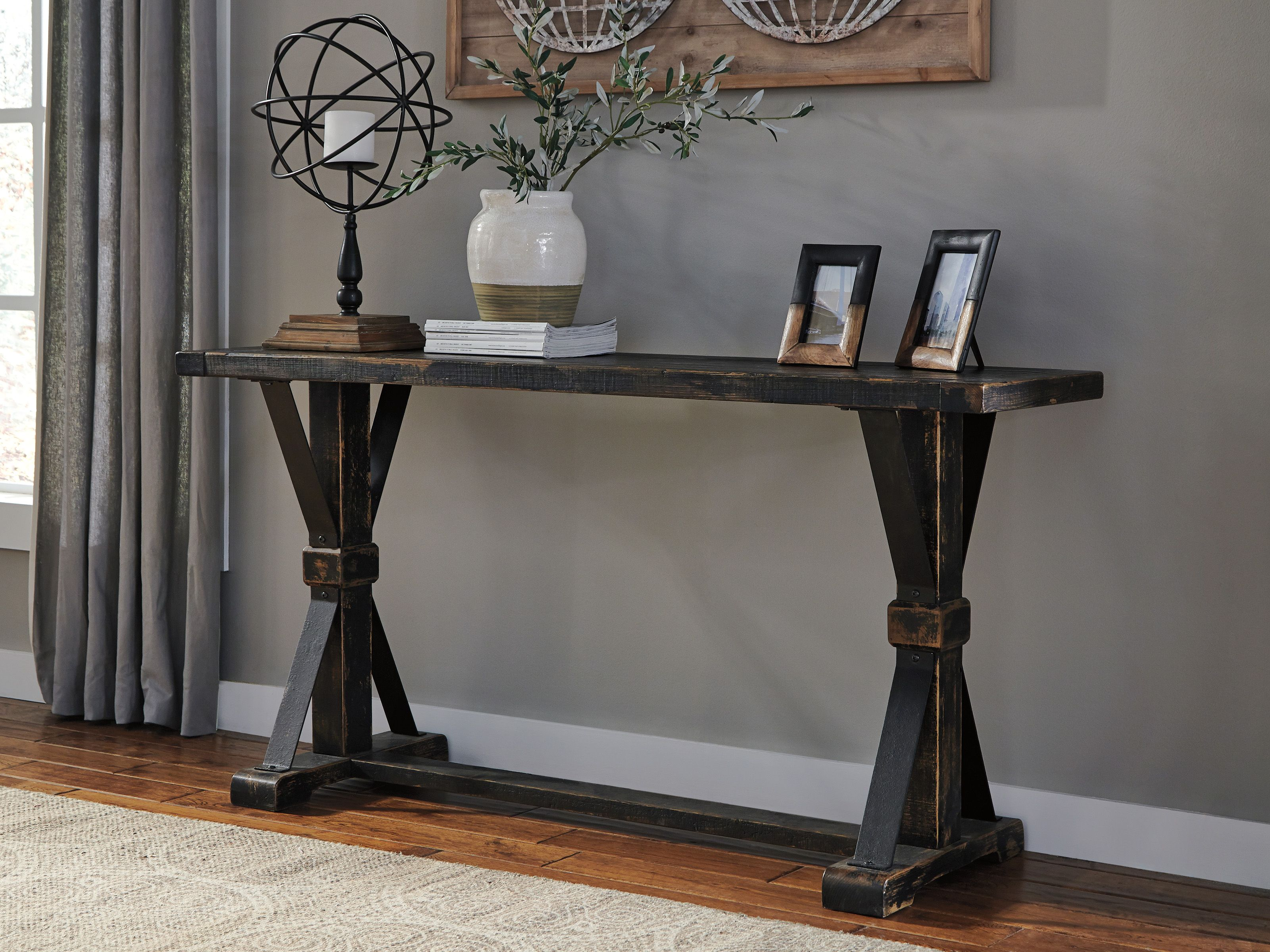 Beckendorf T096 4 By Ashley Sofa Table Rustic Console Tables Sofa Table Decor Black Console Table