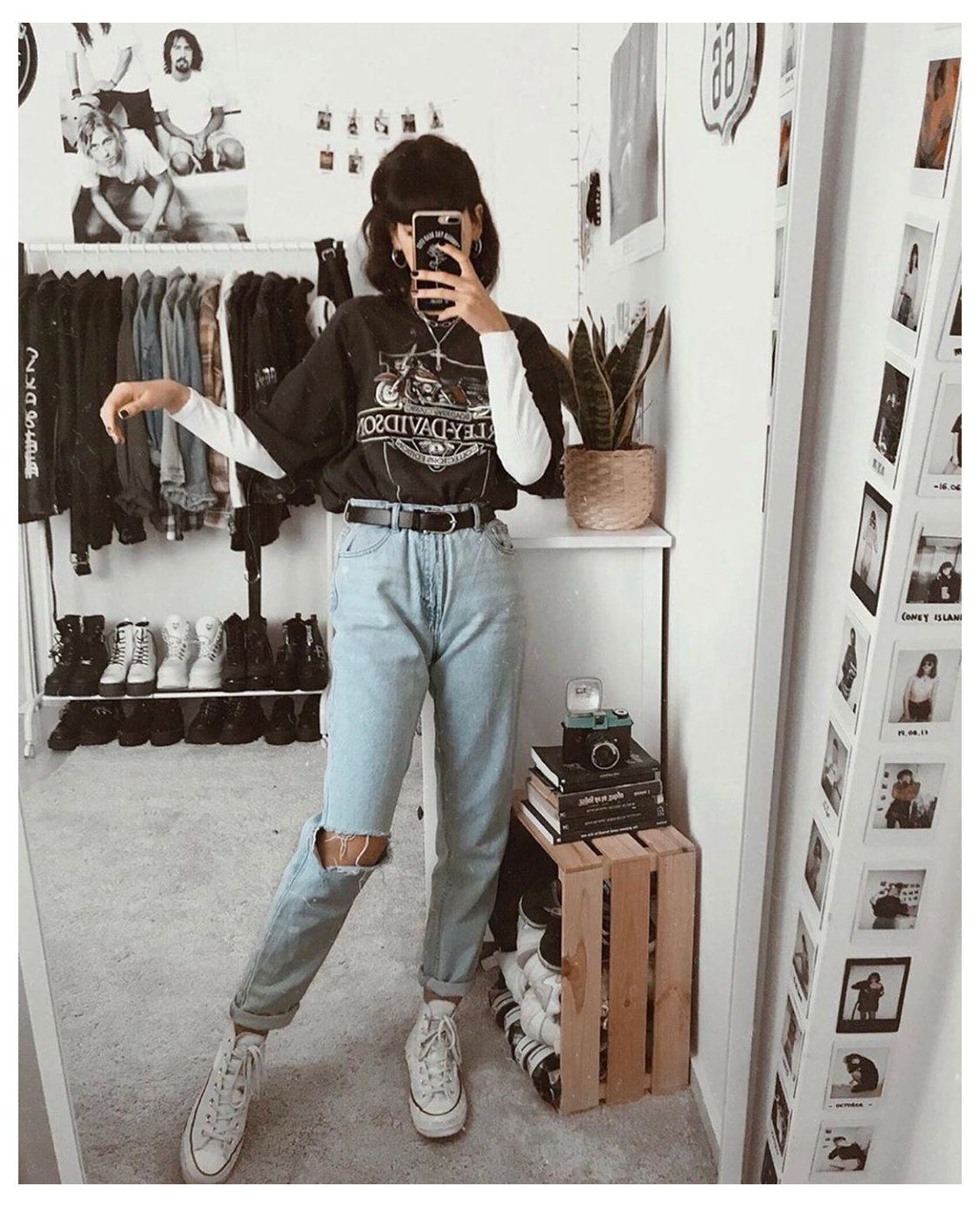 mom jeans outfit grunge