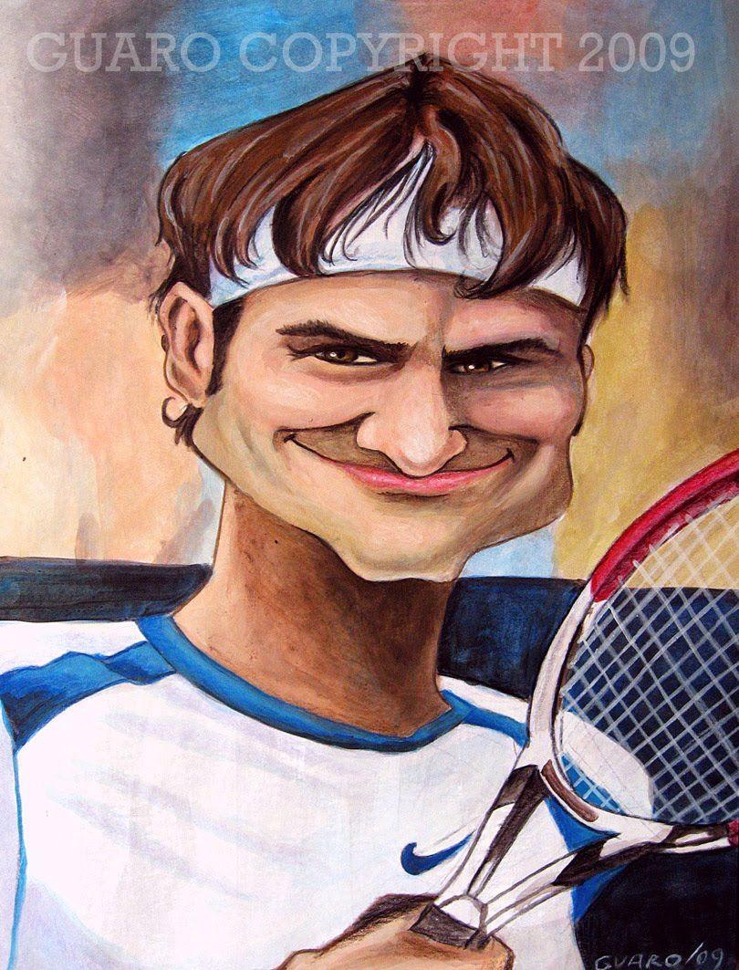 Federer - Tecnica Acrilico