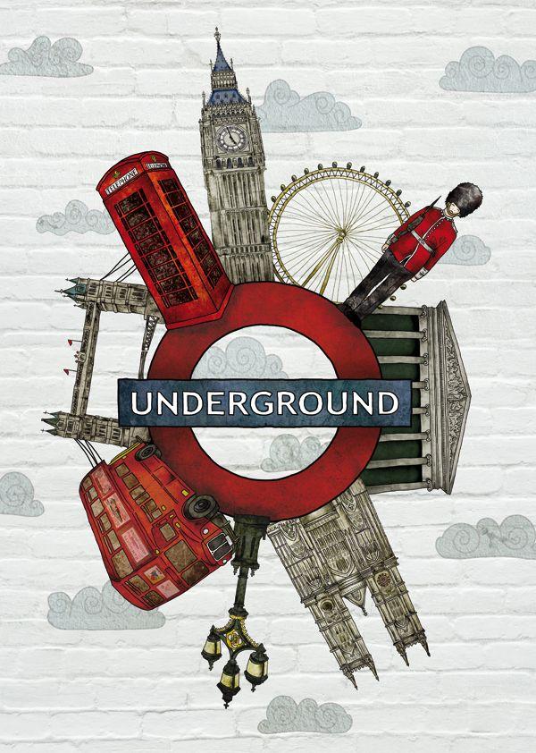 Around London. Illustration for LING magazine. on Behance