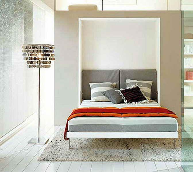 Italian Murphy Bed With Decorative Lighting | Decor | Pinterest