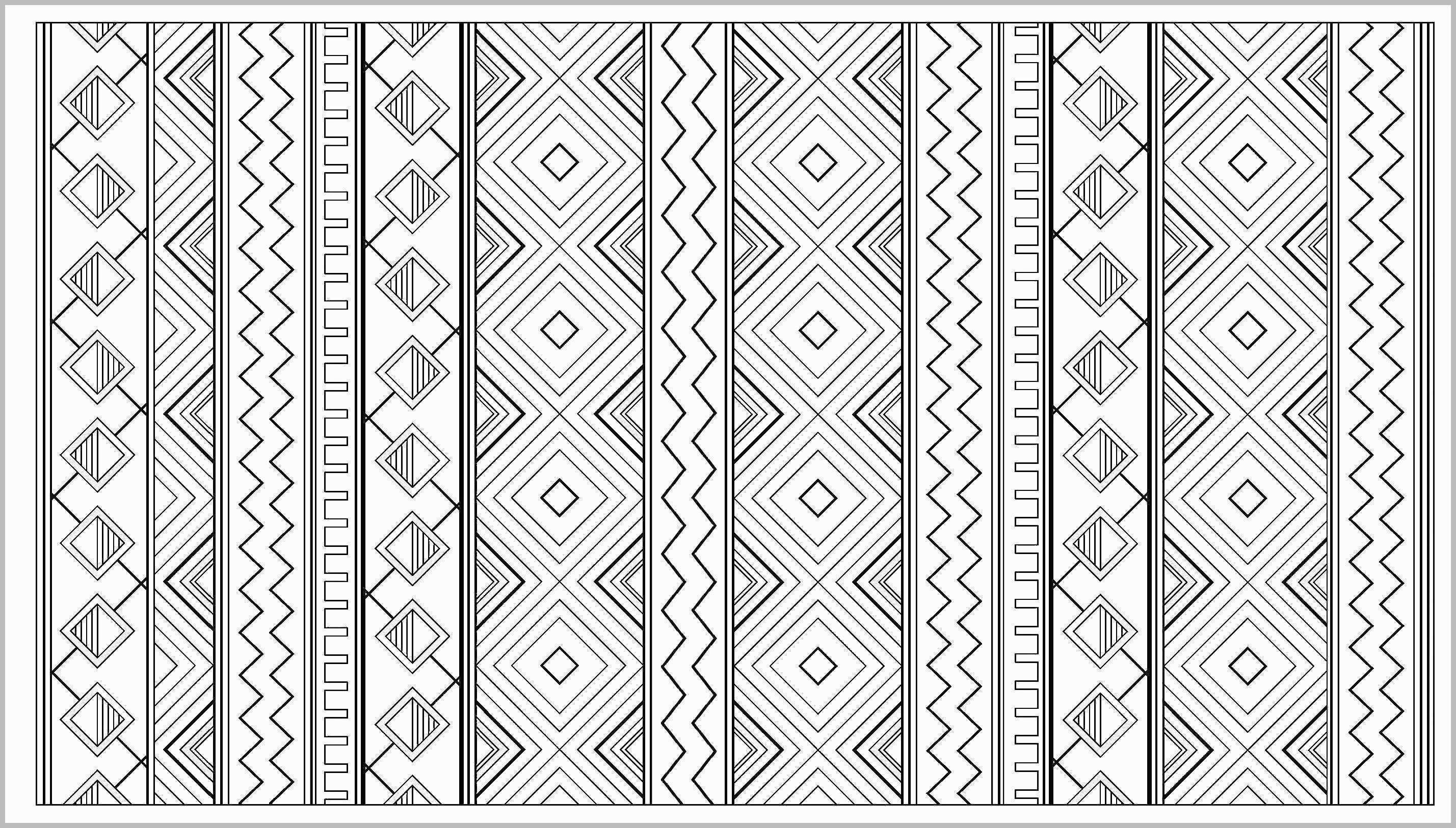Modern Aztec Pattern Coloring Page Bestcoloring Pinterest