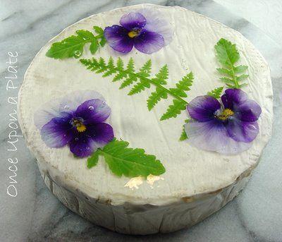 Flower glazed cheeses