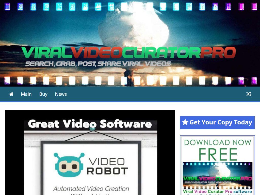 Unusual new video creation software tool video robot with
