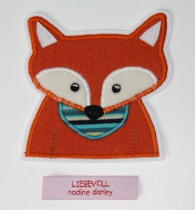 kostenlose Applikationsvorlage von Dinis Blog Fuchs free applique pattern fox