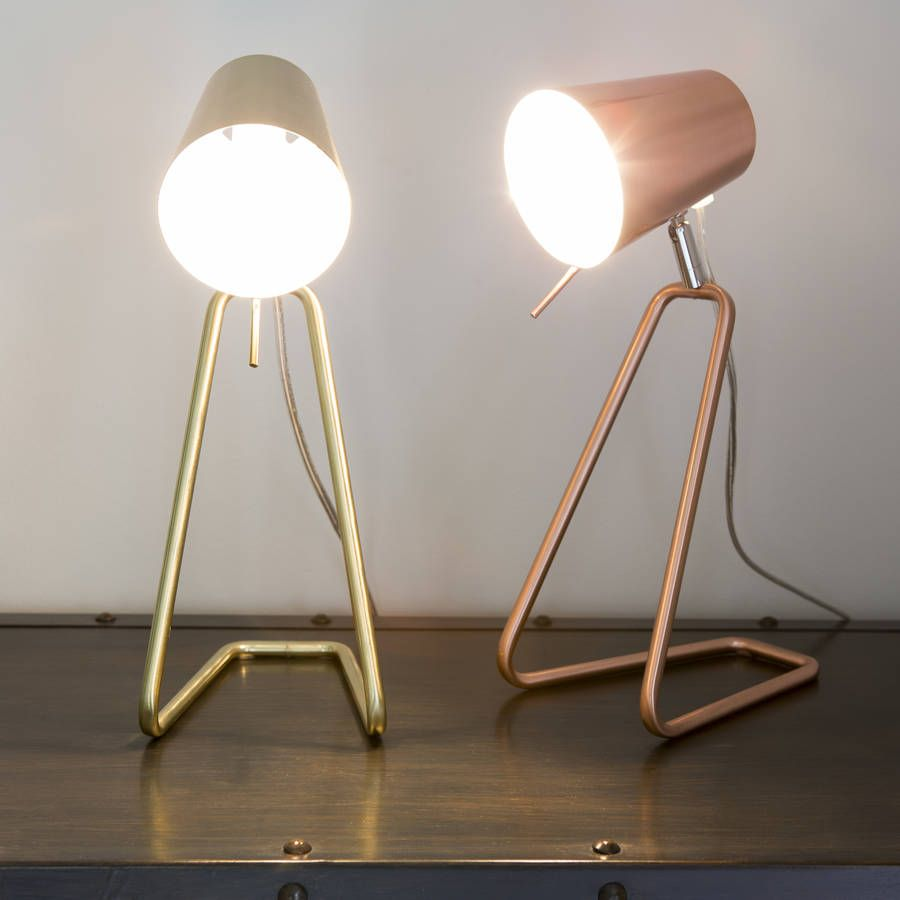 Z Table Lamp In Brass Or Copper By I LOVE RETRO