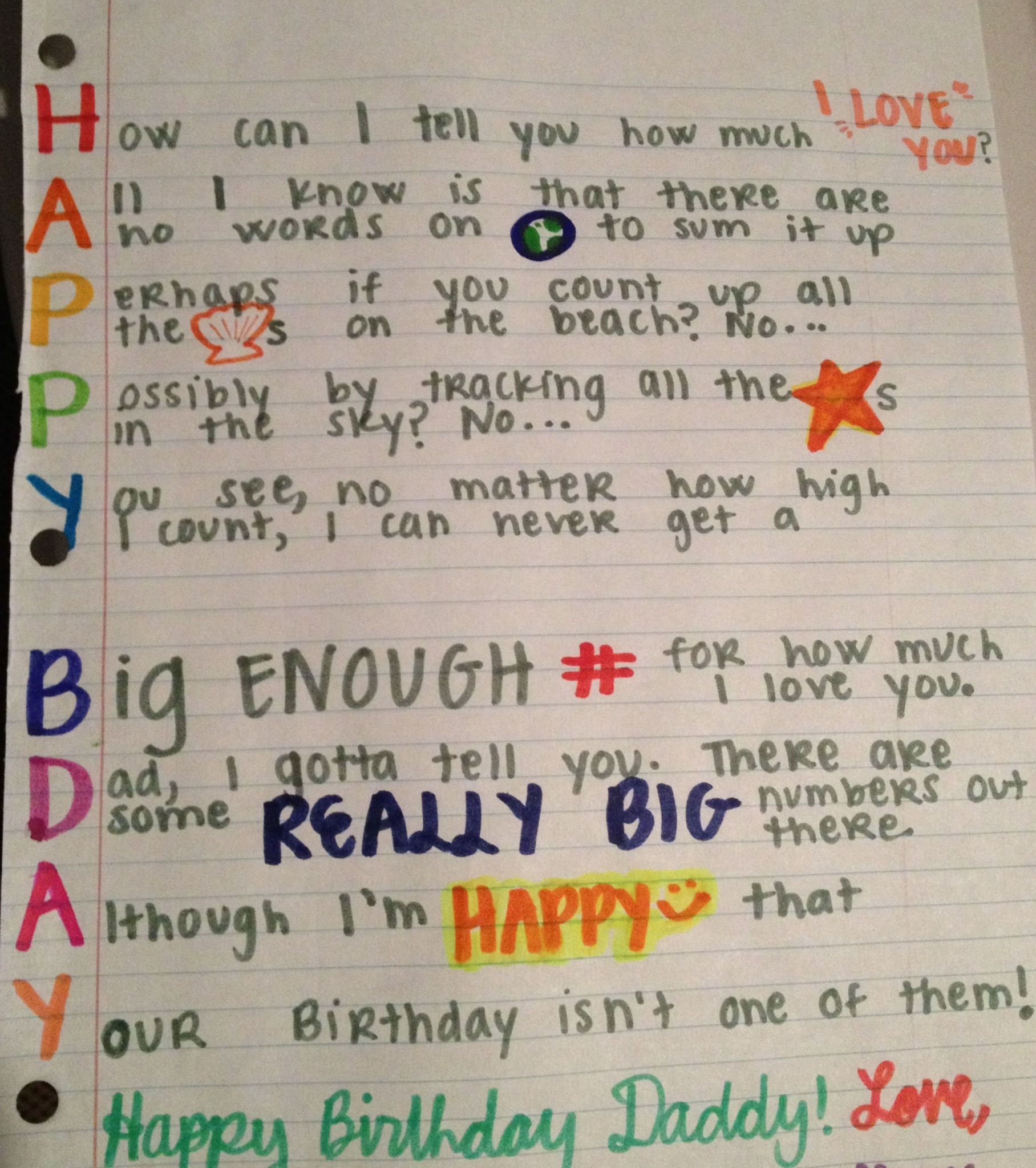 birthday card for a dad Crazy Stupid Love Pinterest